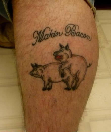 Damn Fresh Pics The Craziest Bacon Tattoos Ever