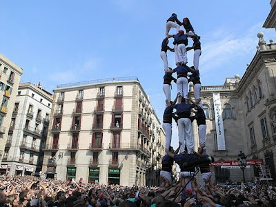 The Human Towers Of La Merce Seen On www.coolpicturegallery.net