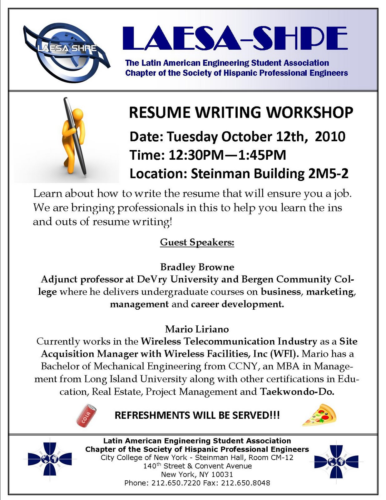 LAESA SHPE Resume Writing Workshop  Resume Writing Workshop