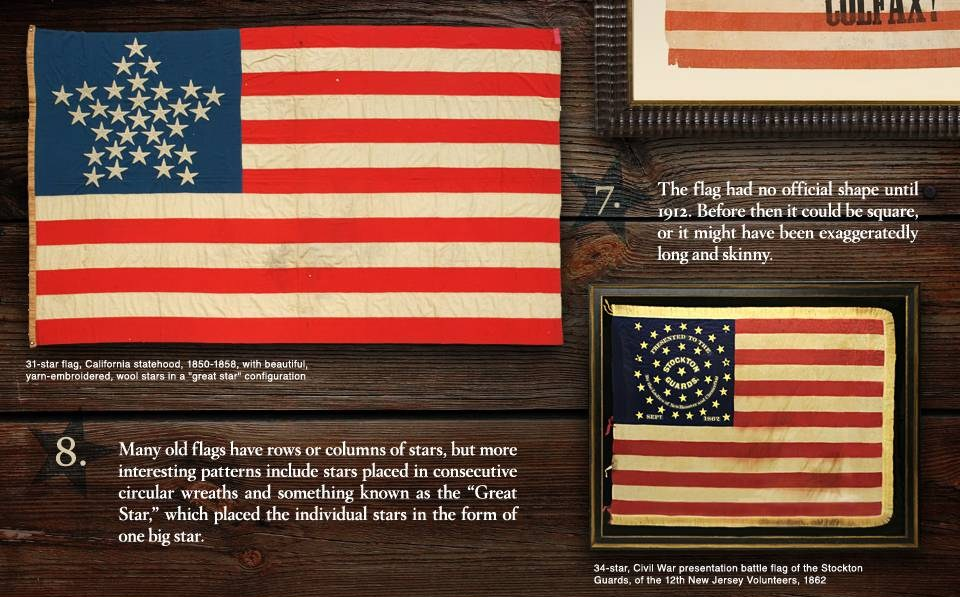 High street market the american flag fun facts for The american flag history