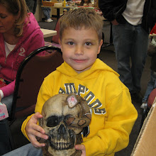 Caden and his skull!