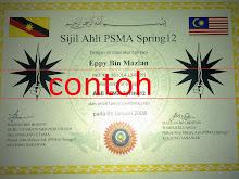Sijil Ahli PSMA Spring12
