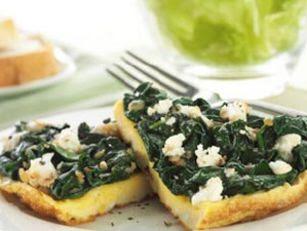 Feta and Spinach Omelette Recipe