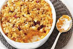 Christmas Oat Topped Sweet Potato Crisp Recipe