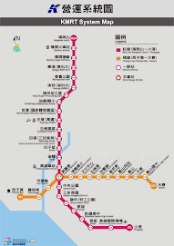 高雄捷運路網圖(漢語拼音)