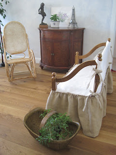 Burlap and Muslin Slipcover Tutorial