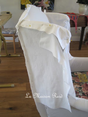 Pinning and fitting slipcover pieces