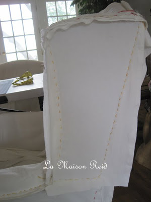 Basting slipcover. Make your own slipcover