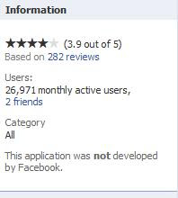 Fake facebook application