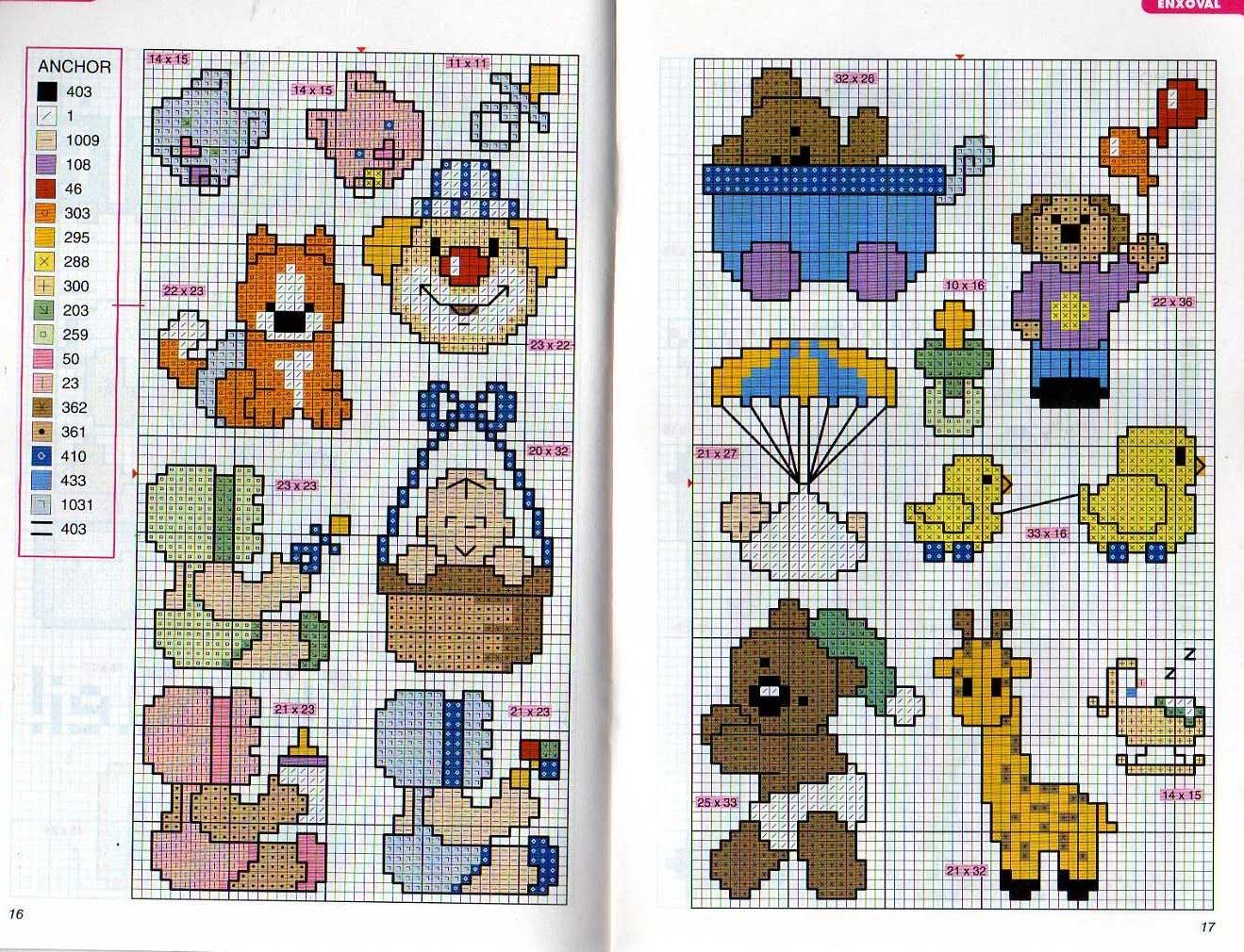 Pintando con hilos blog de punto de cruz cenefas - Cenefas de papel infantiles ...