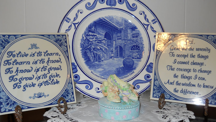 Blue and White collectibles