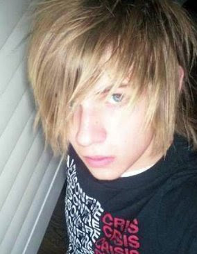 Blonde Emo Boy Hair