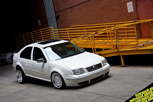 White mk4 on BBS RS's white face with a polished lip Super clean Enjoy