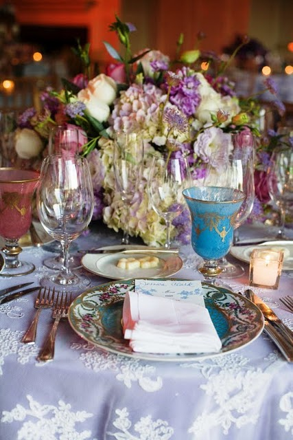 Vintage inspried whimsical tablescapes