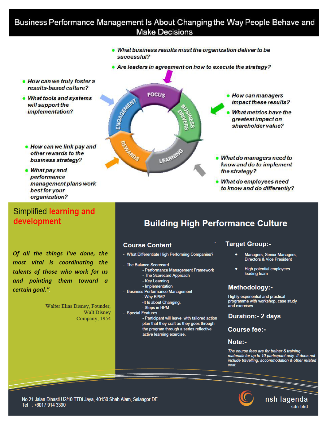 building a high involvement culture Engagement and culture:  in building and sustaining high performance  it guarantees superior levels of involvement and.