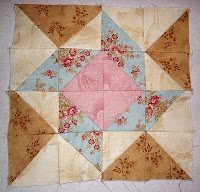 whirligig1 block from The Graceful Garden Jacobean Quilt