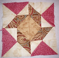 whirligig2 block from The Graceful Garden Jacobean Quilt