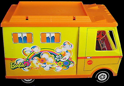 Made by Mattel ©1970. This was one of Barbie's most popular vehicles.