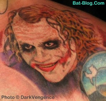 went & got himself another Batman Tattoo! But this one is of The Joker