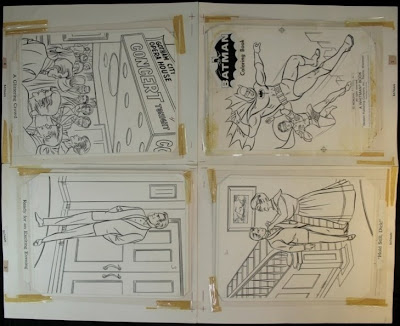 Last Night On EBay The Auction For Original Production Art One Of 1966 Batman Whitman Coloring Books Ended At 192500 Now If You Ask Me
