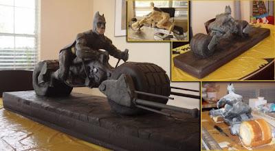 Waroeng Site THE DARK KNIGHT Batman Movie BATPOD Birthday Cake - Dark knight birthday cake