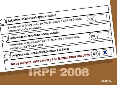 Modelo IRPF 2008: así no hay crisis...