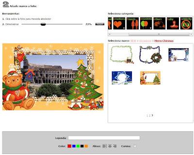 Añadir marco navideño a imágenes - Loonapix