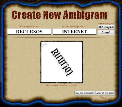 Crear ambigramas
