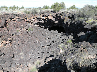 Lava Beds National Monument, crater leading to Big Painted Cave