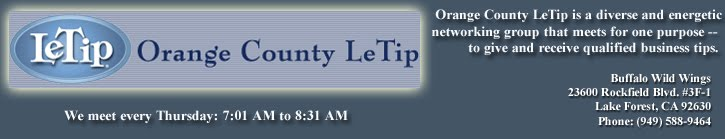 Orange County LeTip Business Networking