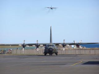 RAAF C130 on approach