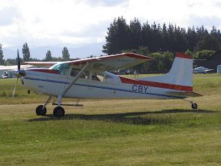 Skydive aircraft, Cessna C185A, ZK-CBY