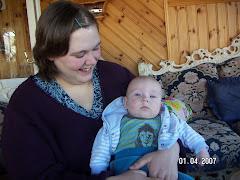 Elisabeth med Jonathan