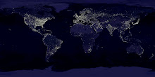 Harta nocturnă a Pământului