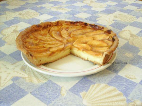 corte tarta manzana