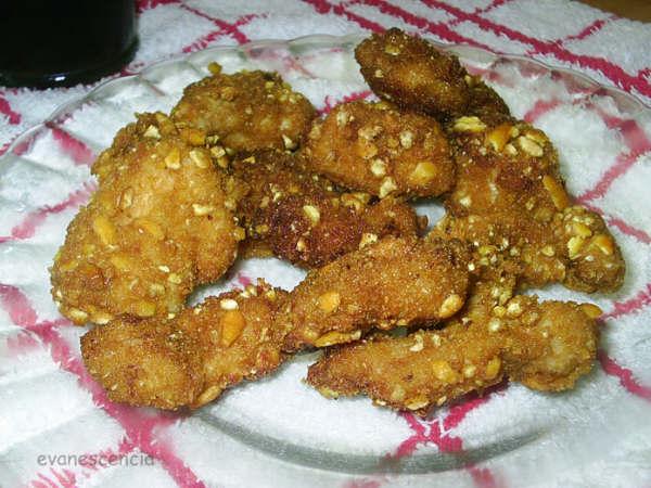 pollo rebozado con kellogs y kikos