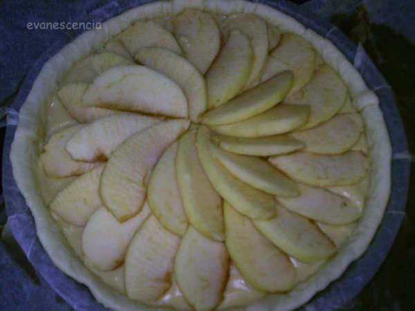 tarta manzana antes de hornear
