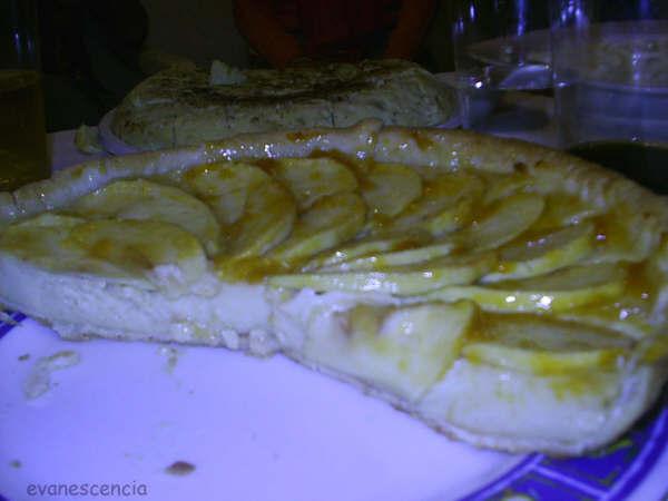 tarta manzana y crema pastelera