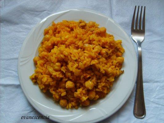 arroz con garbanzos y atun