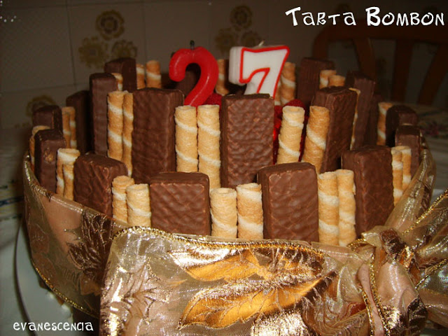 tarta bombon de cerca