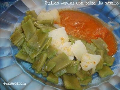 judias verdes con salsa
