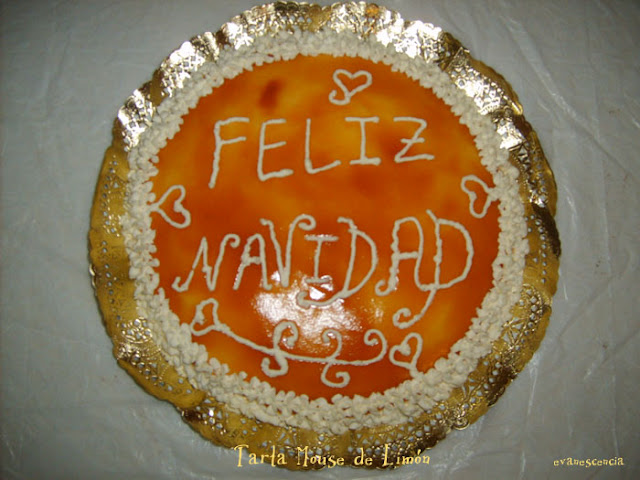 tarta mousse de limon navideña