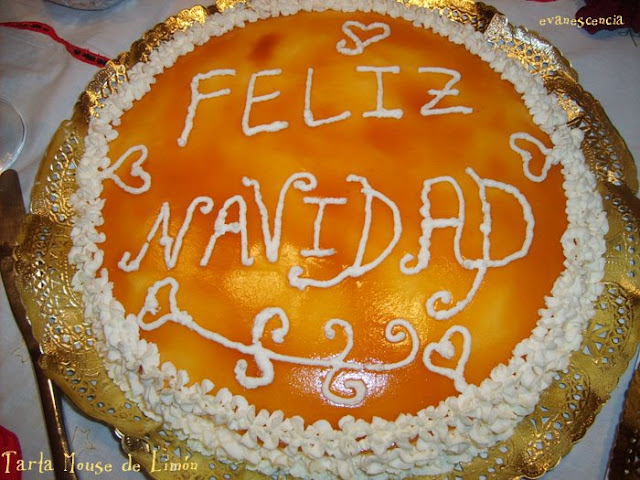 tarta navidea de limon