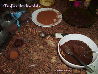 bolas de chocolate
