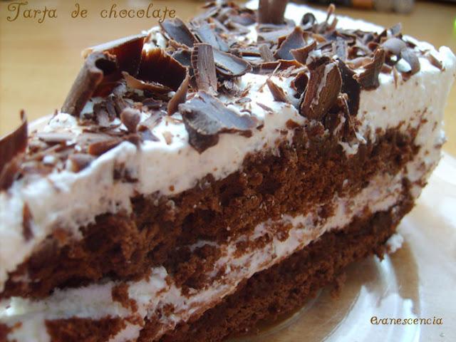 tarta chocolate de cerca