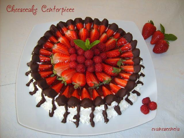 tarta queso con frutillas rojas