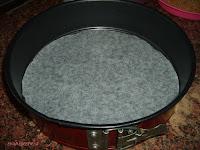 base forrada papel hornear