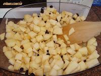 manzanas y pasas