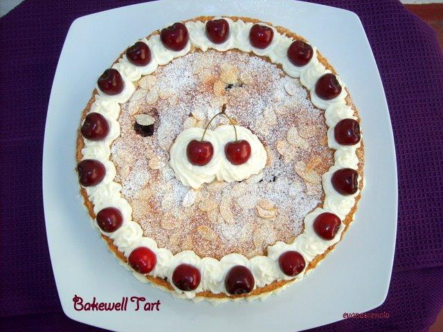 tarta bakewell desde arriba
