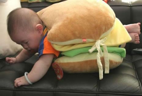Funny Baby hamburger